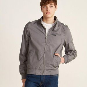 Members Only Gray Iconic Racer Jacket Zip Up Sz 44